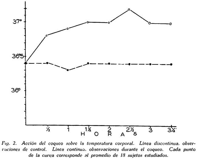 Acción de la coca y de la cocaína en sujetos habituados